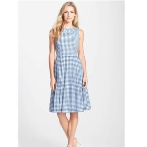 Kaya & Sloane Gingham Fit & Flare Midi Dress BS08